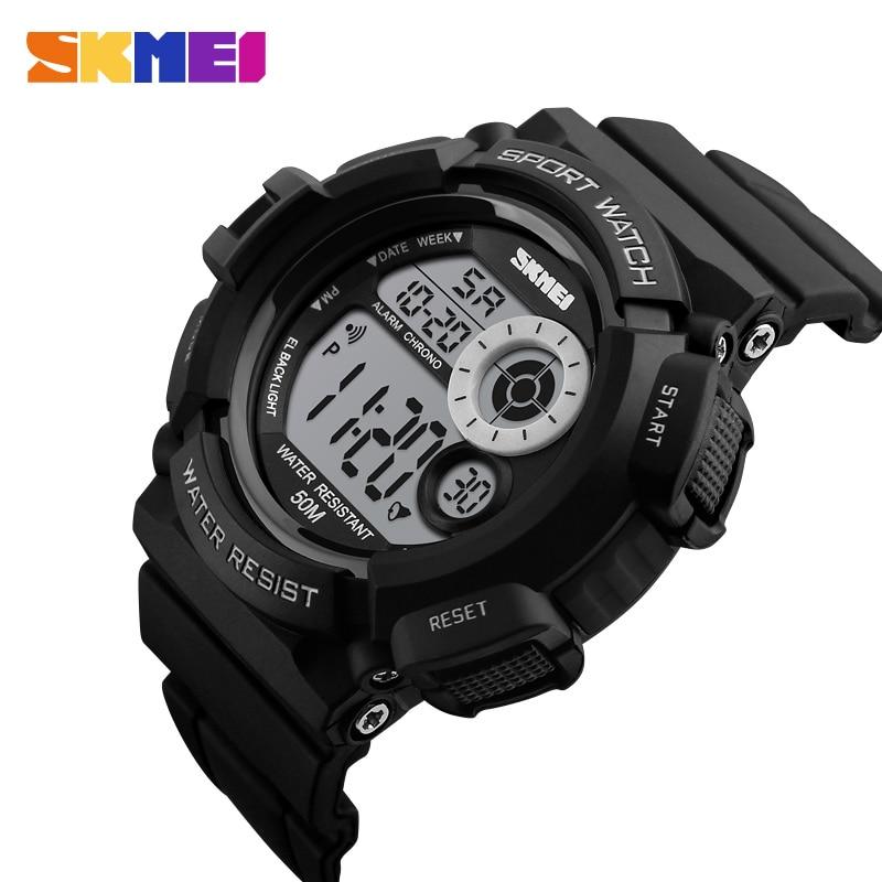 SKMEI Outdoor Sport Watch Men Simple Colourful LED Display Watches Waterproof Shock Resistant Digital Watch Reloj Hombre 1222