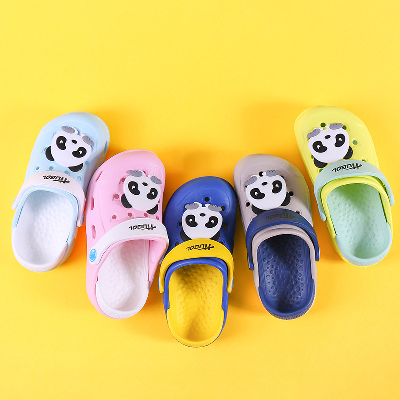 Zomer Kinderen Schoenen Voor Meisjes Jongens Slippers Leuke Cartoon Panda Comfortabele Mode Kids Anti-slip Meisjes Slippers Strand Schoenen Straatprijs