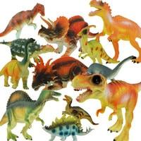 12pcs/lot 5 15cm Dinosaure Figure Simulation Model Toy Dinosaur Plastic Play Model For Children