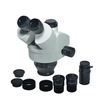 Simul фокусным расстоянием 7X 45X Тринокулярный Стерео микроскоп руководитель Simul фокусным расстоянием промышленный микроскоп WF10X 20 мм линзы ок