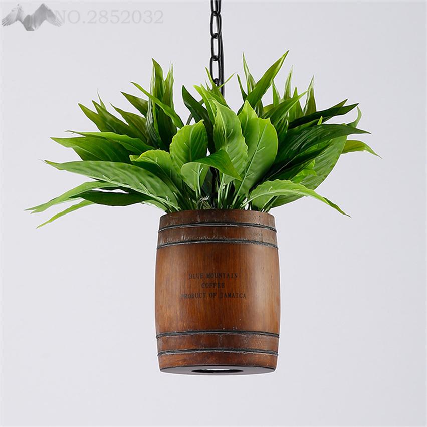 Moderne Persnlichkeit DIY Pflanze Holz Pendelleuchte Fr Wohnzimmer Schlafzimmer Bar Innen Leuchten Decor