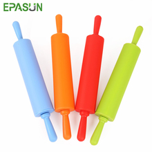 EPASUN Large Size Non-stick Silicone Fondant Rolling Pin Fondant Cake Dough Roller Decorating Cake Roller Crafts Baking Tool stamping brayer art clay tools for craft 3 5x8x11cm non stick roller pin clay roller pottery rolling pin modelling tool