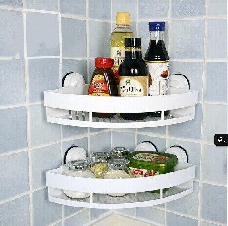 Support de rangement d'angle nouveau module blanc ABS matériel d'ingénierie souper mural cuisine salle de bains salle de bains trépied rack étagère
