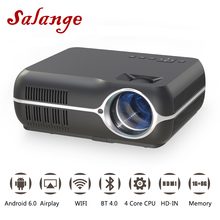 Salange A10 LED Projector 1080P Android 6.0 4200 Lumens WIFI HDMI Bluetooth Home Theater Full HD Projetor Video Beamer Proyector
