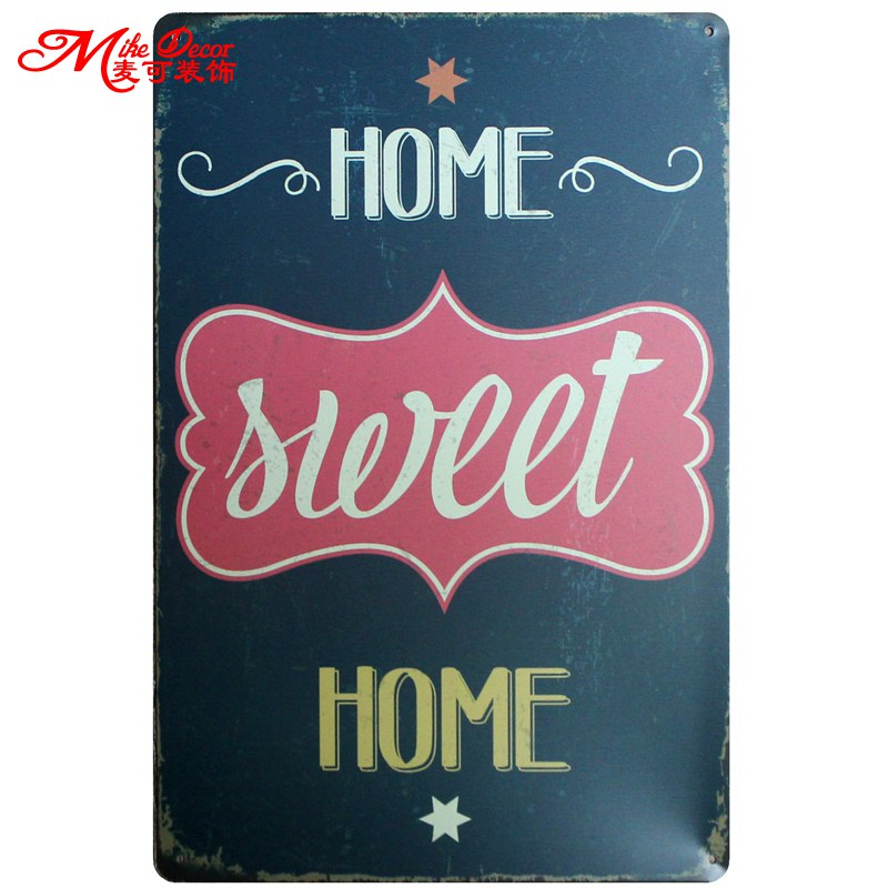 Online Shop [ Mike86 ] HOME SWEET HOME Quote Tin Sign Vintage Store ...