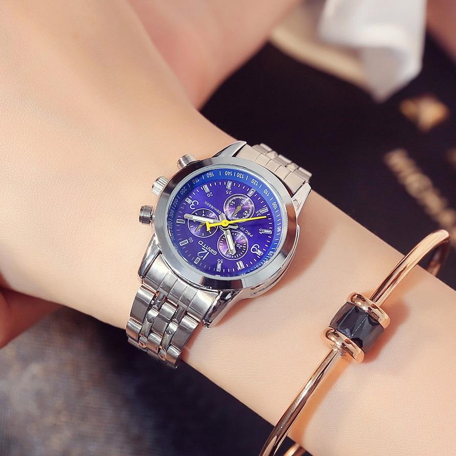 GIMTO 2018 Women Bracelet Watches Steel Dress Lady Lovers Quartz Watch Female Male Fashion Casual Wristwatch relogio feminino 5