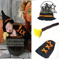 Newborn Baby Boys Girls Woolen Suit Knitting Suit Creative Clothing Set Crochet Costume Halloween Witch Cosplay