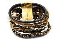 leather bracelets handmade brown charm bracelets Bohemia beach bracelets for women have S/M/L size B1401