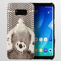 2018 New brand phone case real snake head back cover phone shell For Samsung Galaxy S8 Plus full manual custom processing