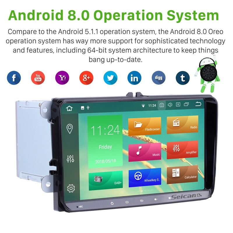 Lecteur multimédia autoradio Seicane 2Din Android 9.0 9