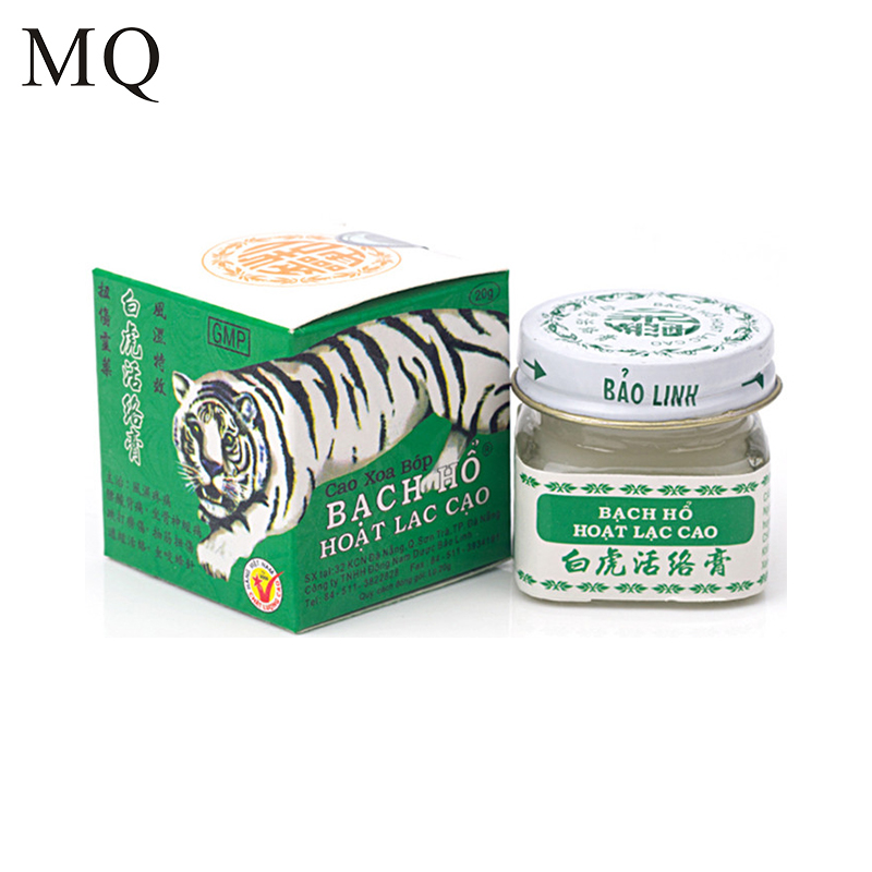 5bottle/lot White Tiger Balm ointment for Headache Toothache Stomachache Pain Relief Balm Dizziness Essential Balm Oil 20g Paste natural herbal buddha ointment oil for headache toothache stomachache dizziness abdominal pain sciatica skin care body cream