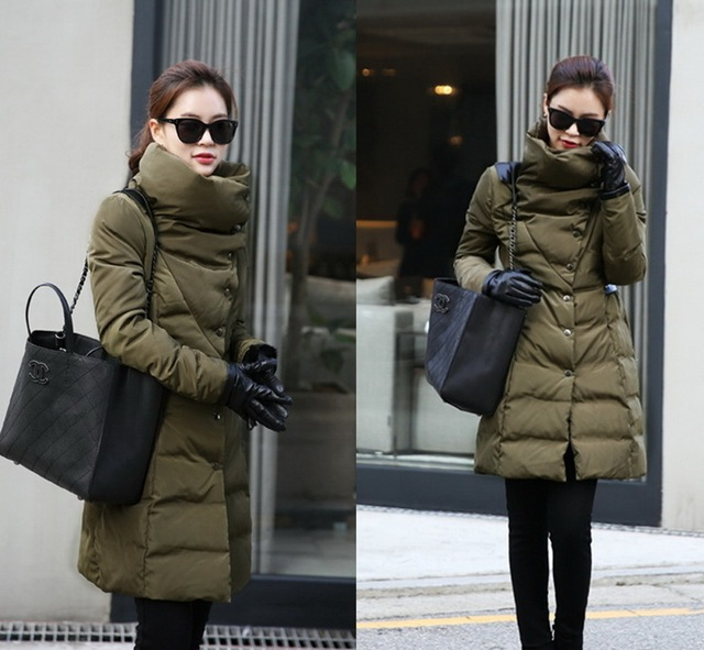 Parkas For Women Winter 2017 New Coat Elegant Plus Size Long Down Warm