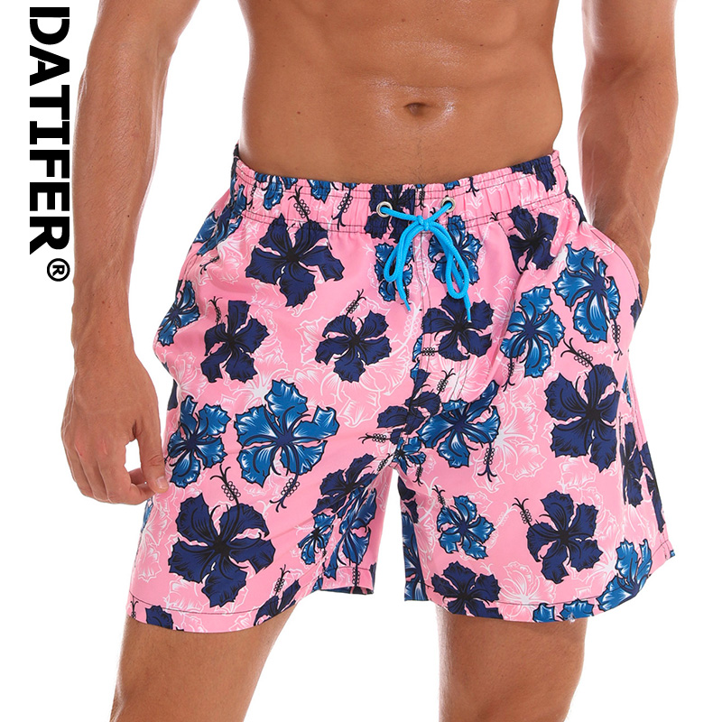 DATIFER ES3W Quick Dry Man   Board     Shorts   2019 Plus Size XXXL Beach Wear Briefs For Men Swimwear Surf   Shorts