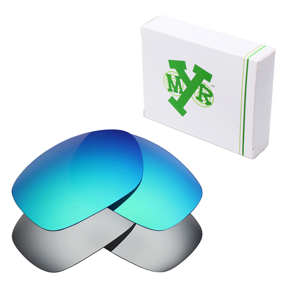 f9063e29e9a69 2 Pairs Mryok POLARIZED Replacement Lenses for Oakley Ten-X Sunglasses  Silver Titanium   Emerald Green