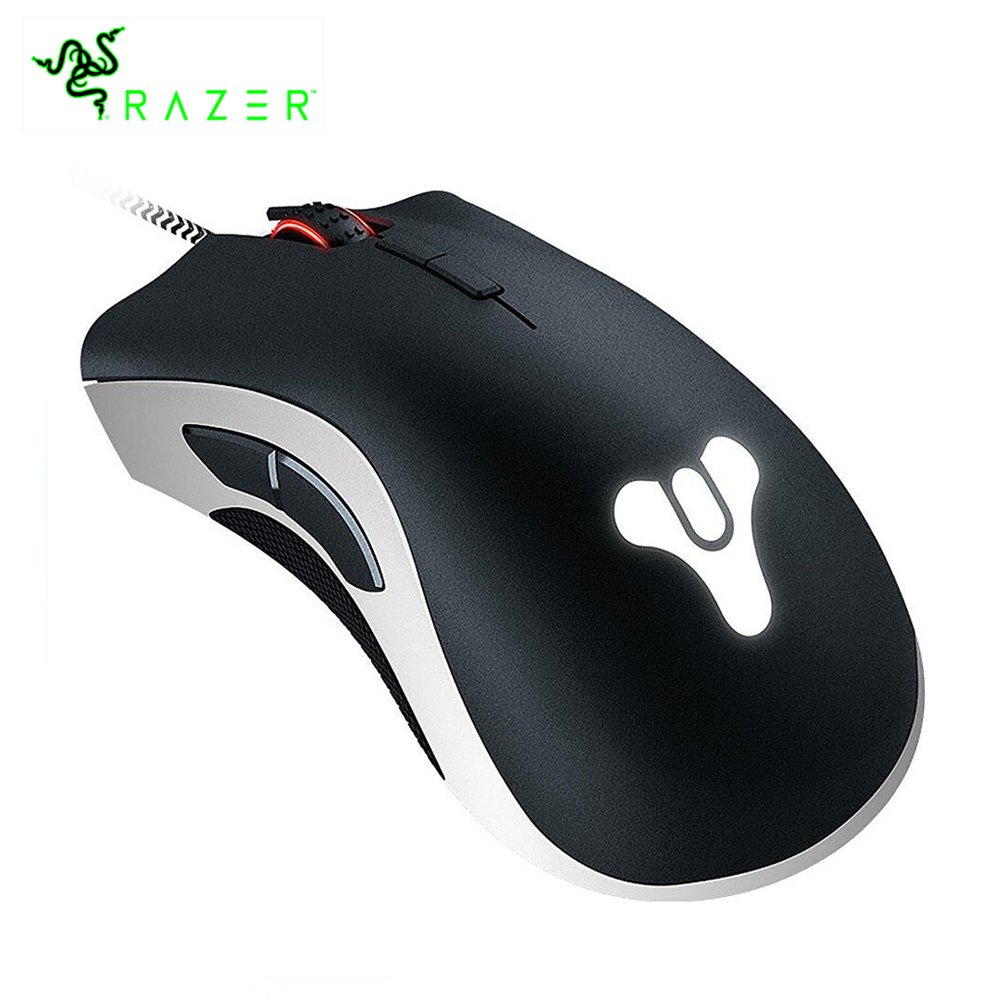 Razer DeathAdder Elite Destiny 2 Edition Gaming Mouse 16000 DPI Ergonomic Multi-Color Precise Sensor Comfortable eSports Mouse razer deathadder elite overwatch edition 16000dpi ergonomic wired gaming mouse chroma enabled rgb esports gaming mouse