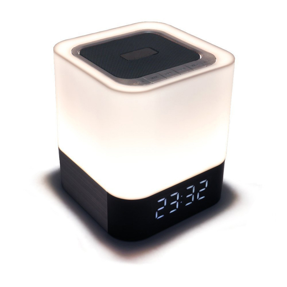 Wall Speakers Night Light Wireless Bluetooth Bluetooth Speaker Lights Multifunctional Colorful Clock Alarm Decorative 4W DY28