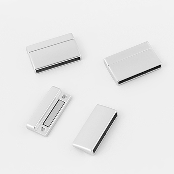 3 Sets 30x3mm Strong Magnetic Clasp For 5mm 10mm 30mm Flat Leather Cord DIY Bracelet Making