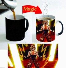 super saiyan dragon ball goku mugs coffee cups tea mugs heat sensitive heat reactive Magic cups ceramic travel mug home decal