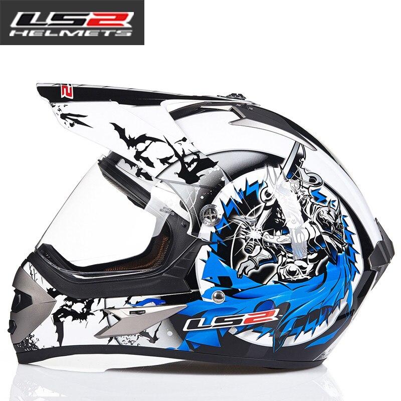 LS2 MX433 внедорожный мотоциклетный шлем с ветрозащитным щитом мотокросса шлемы костюм для мужчин и женщин одобренный ECE - Цвет: 10