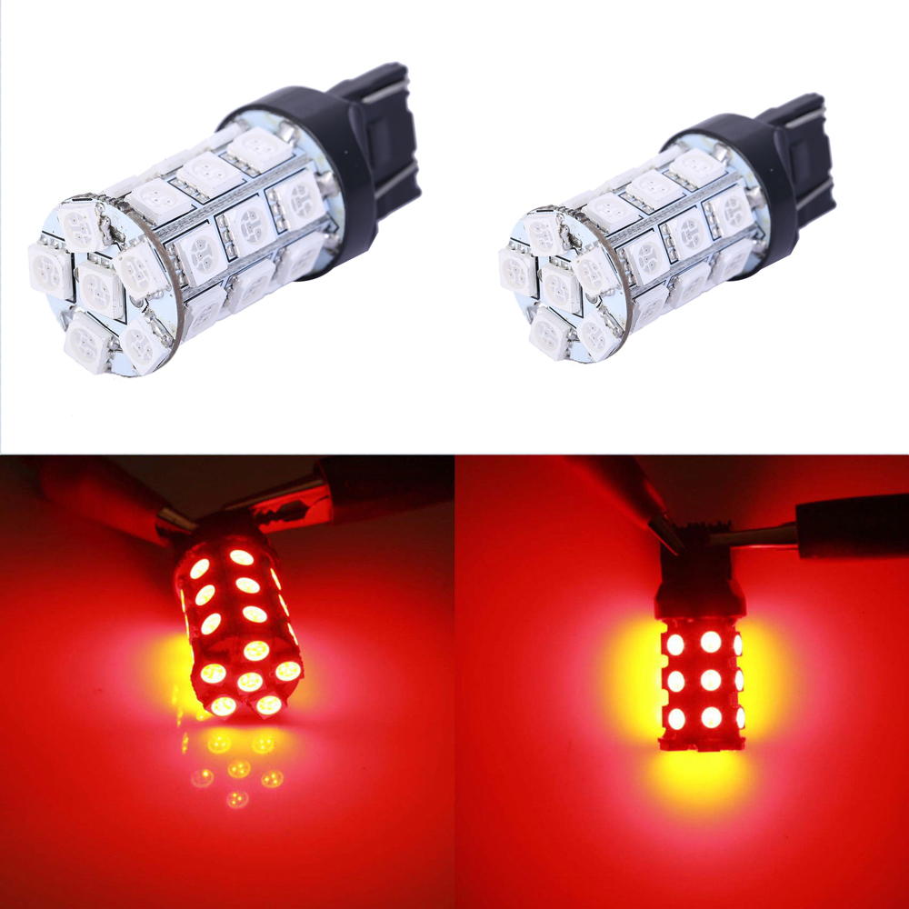 2pcs/lot T20 LED Bulbs W21W 27 SMD 5050 Daytime Running Lights Reverse Driving Lights Signal Lamps 7440 7441 992 992A 2pcs brand new high quality superb error free 5050 smd 360 degrees led backup reverse light bulbs t15 for jeep grand cherokee