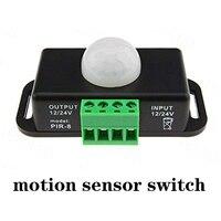 10 unids/pack Sensor de Movimiento PIR Sensor Función de Temporizador de Control de Señal Del Interruptor de DC12V 24 V LED de Movimiento PIR Cotroller LED Tiras iluminación