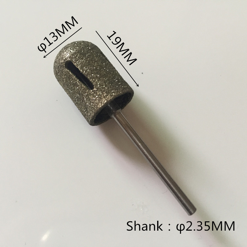 1 PC prego broca de Diamante Fino polimento tampão Ferramentas Da Arte do Prego Manicure Elétrica Profissional Cortador de Unhas Arquivos