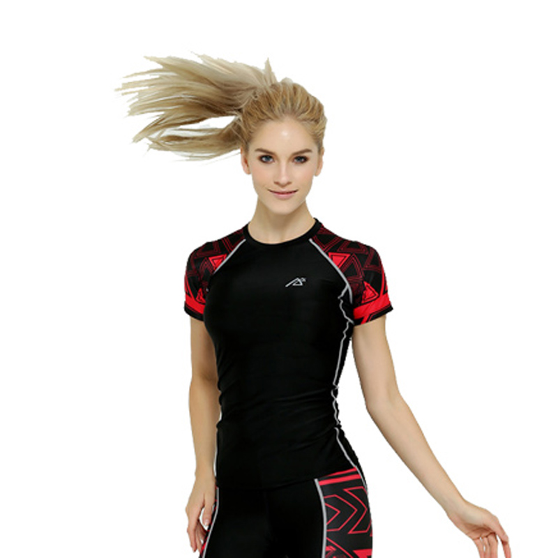 Women Compression Shirts Short Sleeve T shirt Unique Print ...
