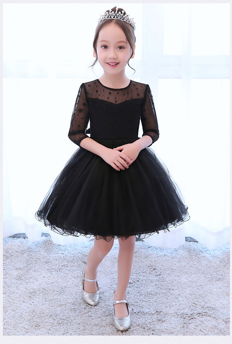 Schwarz Mode Mädchen Kleider 5 13 Jahre Alt Geburtstagsfeier ...
