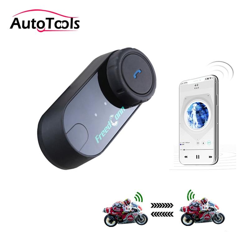 1pc T-COM VB Motorcycle Helmet Wireless Headset Bluetooth Handsfree Speaker 800M Intercom Distance Motorcycle Accessories