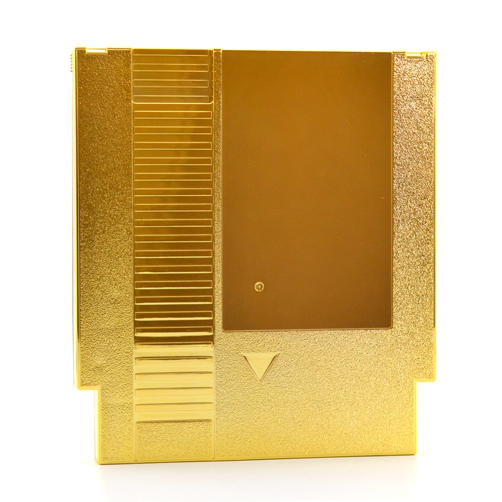 10pcs lot Gold plated 72 Pin Game Card Shell for NES Cover Plastic Case for NES