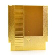Coque plaquée or pour carte de jeu NES, étui en plastique de remplacement pour cartouche de jeu NES, 72 broches, 10 pièces/lot