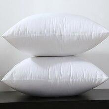Квадратные Белые перфорированные тканевые подушки, декоративные подушки, полипропиленовый хлопок, наполнитель 450 г для 45x45 см, 380 г, 30x50 см, поштучно