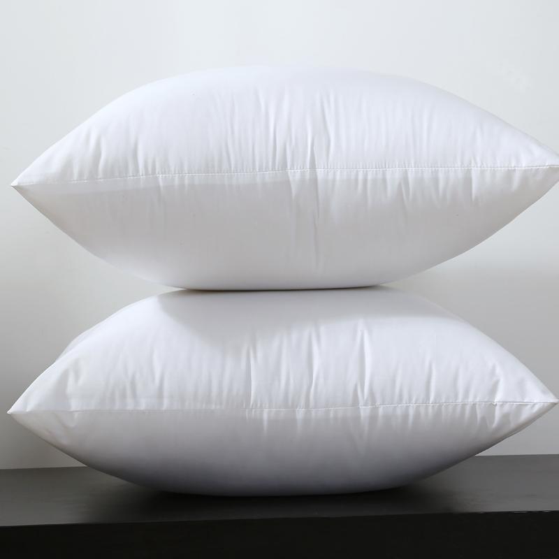 Square White Peached Fabric <font><b>Cushion</b></font> Insert Decorative Pillows PP cotton filling 450g for 45x45cm Sell by Piece