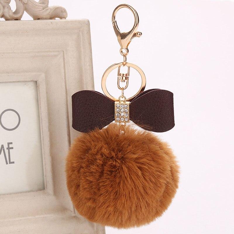 4X 5cm Faux Fox Pom Pom Ball Ball Pom Accessory for Keychain Beanie Xmas DIY PDH