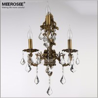 Modern Crystal Wall Light 1/2/3/ Arms Bronze Color Zinc Alloy Crystals Sconces Lamps Lustres Wall Brackets Lighting for Bedroom