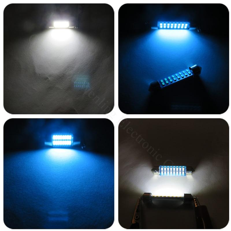 WLJH 4stk Bilinteriörlampa 28mm 31mm 36mm 39mm 41mm LED-lampor C10W - Bilbelysning - Foto 3