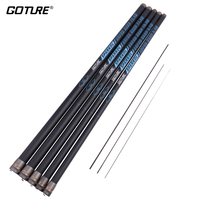 Goture SPARKOL 12M/11M/10M/9M/8M High Carbon Fishing Rods 2/8 Power Telescopic Fishing Rod Hand Pole Rod for Stream, 1pc+3tips