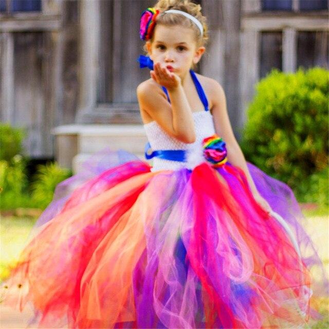 Для девочек Радужное платье-пачка принцесса маленькая лошадка платье-пачка Платье для маленькой девочки до Необычные пачки Одежда для малышей Рождество