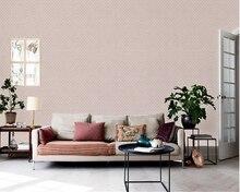 цена на beibehang Simple modern jacquard wall paper living room bedroom TV background decoration nonwoven papel de parede 3d wallpaper