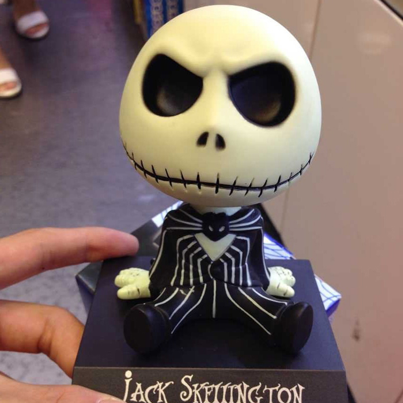 Image 2 - Car Ornaments Jack Skeleton Action Figure Shaking Head Doll Dashboard Decoration The Nightmare Before Christmas jack Toys New-in Ornaments from Automobiles & Motorcycles