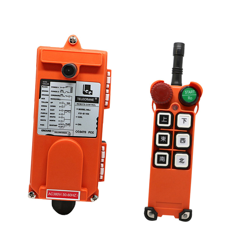 F21-E1 for hoist crane 1 transmitter and 1 receiver industrial wireless redio remote control switch switches wholesales f21 e1 industrial wireless universal radio remote control for overhead crane ac48v 1 transmitter and 1 receiver