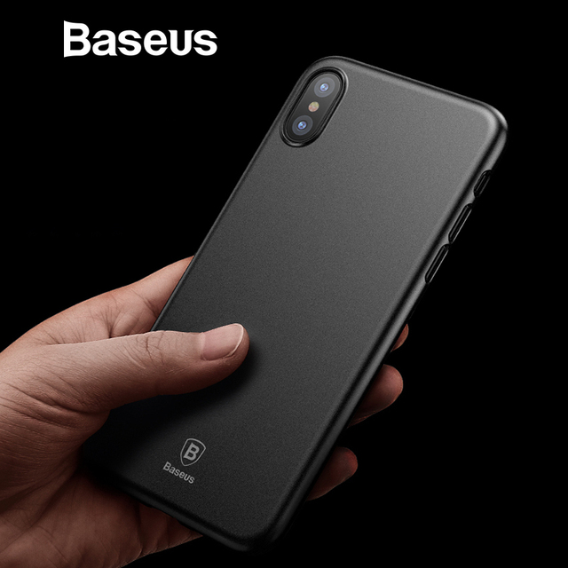 more photos 56ff3 ee64a US $3.69 30% OFF Baseus Super Super Thin Wing Case For iPhone Xs Xs Max XR  2018 Cases Hard PP Back Phone Accessories For iPhone Xs Xs Max Cover-in ...