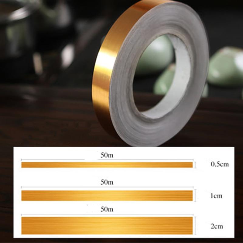 50m Self Adhesive PVC Tiles Sticker Waterproof Tape Grout Wall Gap Floor Strip