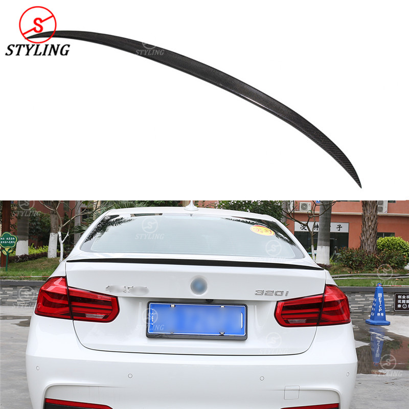 For BMW F30 Carbon Spoiler M3 Style F30 320i 328i 335i 326d F80 M3 Carbon Fiber rear spoiler Rear trunk wing Sedan styling 2013+ m performance style carbon fiber rear trunk wing spoiler for bmw 3 series f30 2012 2018 318i 320i 328i 330i 335i