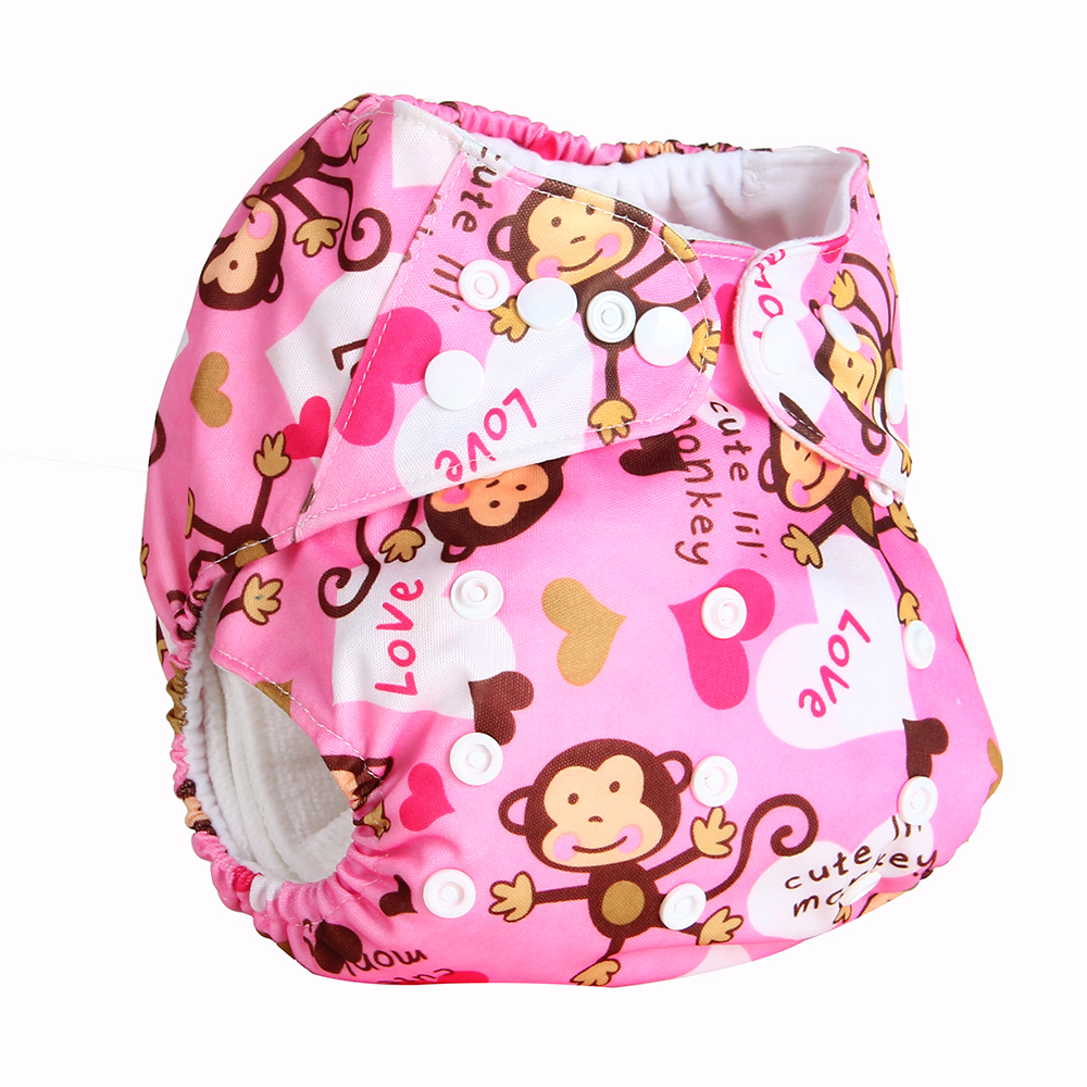 Bear Leader2017 Baby Washable 1pc Cloth Diaper with 1pc Microfiber Insert Baby Diapers Reusable Cloth Nappy Suit 0-2years 3-15kg