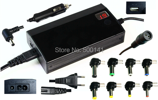 2-in-1 Universal Laptop Charger AC/DC 100W Notebook ac Adapter LCD Display Laptop/Computer Adaptor Power