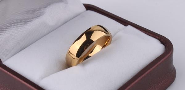 Venta caliente alta placa de oro polaco acero de titanio mujeres - Bisutería - foto 2
