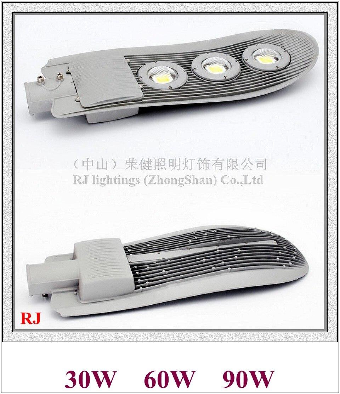COB LED street light lamp LED road light waterproof 30W / 60W / 90W AC85V-265V input die-cast aluminum snake style RJ-LS-J bsod 24w led street light bulb road lamp ip65 waterproof aluminum housing ac85v 265v