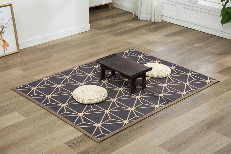 Tapis en bambou tapis 130x150 cm ou 130x180 cm Rectangle naturel tapis de sol en bambou tapis en bambou pour chambre salon salle à manger