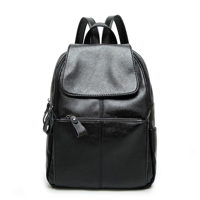 6b433f866 ومي حقيبة صغيرة pu جلدية بسيطة سوداء تغطي الظهر الحقائب المدرسية حقيبة سفر  كلية البنات الأزياء